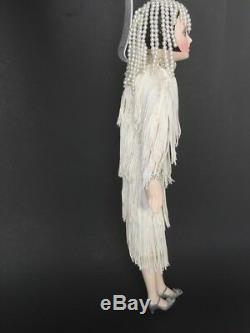 Vintage Seymour Mann Art Deco Gatsby Flapper Girl 18 Porcelain Doll c. 80's