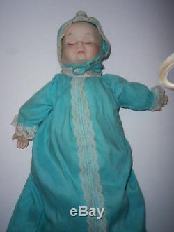 Vintage Three Different Faces Porcelain/bisque And Material Stuffed Doll