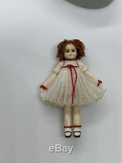 Vintage Tiny Renee Delaney miniature Shirley Temple beautiful doll
