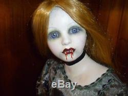 Vintage VICTORIAN porcelain vampire doll