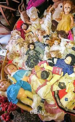 Vintage / antique/ collectables / porcelain/ plastic mixed doll lot