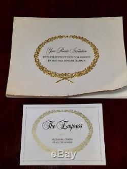 Vtg 1986 $1500 EMPRESS Igor Carl FABERGE PORCELAIN DOLL Alexandra Czarina Russia