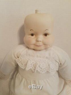 Vtg. 3 Faces of Eve Porcelain Doll happy sad sleepy Doll 21 tall Rare