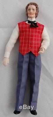 Vtg Dollhouse Miniature Doll Orig Doreen Sinnett Porcelain Bartender Artisan