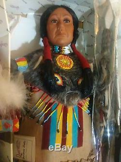 Vtg Duck House Heirloom Native American Indian Cheif Porcelain Doll 32