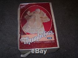 Vtg Le 1983 Ideal Thumbelina Porcelain Collectors Doll