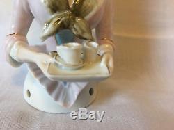 Wonderful vintage porcelain half doll Galluba & Hofmann chocolate girl
