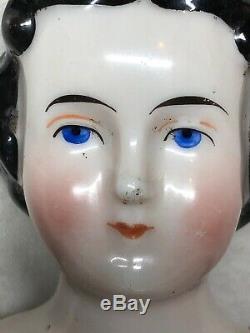 10 Antique Porcelaine Allemande Fait De La Chine Head & Limbs Flat Top Coiffure #sa