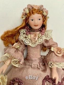 112 Vintage Maison De Poupée Miniature Poupée Victorienne Handcrafted Porcelaine Ooak Euc