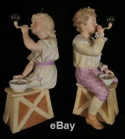 14 Gebruder Heubach Poupée Piano En Porcelaine Bisque Figurines Antique Vintage