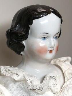 15,5 Antique Porcelaine Allemande Chine Head Doll Aw Kister Haute Brow De #un