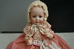 16 247 Baby Girl Jdk Porcelain Doll Head Open Eyes Bouche Fermer