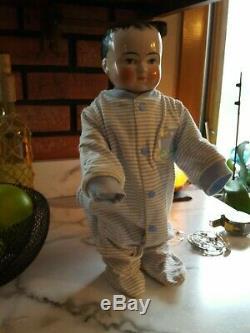 16 Frozen Charlie Antique Doll. Porcelaine Bisque. Mint Condition Vers 1870