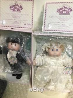 16 Paire De Poupée En Porcelaine Vintage Paire De Mariées & Marié Enfants # 0451 Avec Coa Et Mib
