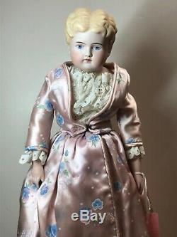 17 Antique Porcelaine Allemande Fait De La Chine Head Blonde Parian Remplacée #sa Corps
