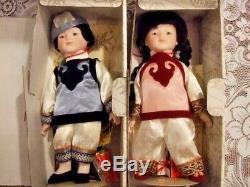 1990 Vintage 833/5000 Signé Poupées Oriental Porcelaine Ming-ming Et Ling-ling Nrfb