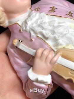 2 Gebruder Heubach Bisque Porcelaine Poupée De Piano Figurine Vintage