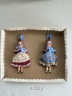 2 Poupées En Porcelaine Antiques Dans Le O. K. Gebrüder Kühnlenz
