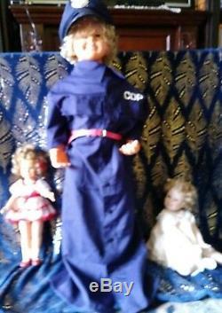 4 Temple Shirley Vintage Dolls. Rare 36/26 / 16 Et Une Porcelaine. Divisera