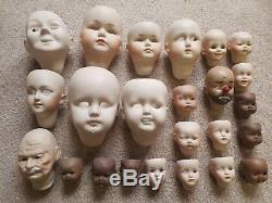 44+ Têtes De Poupées En Céramique Pour Élastine, Années 80, Pièces Vintage, Peintures, Fournitures, Bébé Clown