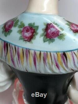 5.5 Antique German Porcelain Doll 1/2 Demi-goebel Belle Lady In Corset #cc