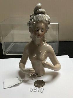 6.25 Allemand Antique Porcelaine Moitié 1/2 Poupée Cheveux Gris Belle 7192/4 #se