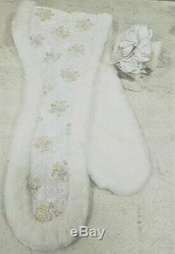 A21 26 Rustie Artiste Porcelain Doll Mariée Bliss Winter Danbury Mint Robe De Mariée