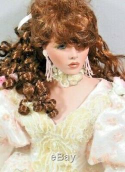 A21 33 Rustie Ltd Victorien Vintage En Porcelaine Redhead Poupée Rose Blanc Robe Gwp