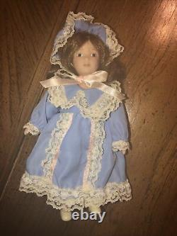 American Girl Pleasant Company Nellies Porcelain Doll Lydia Euc Complete Htf