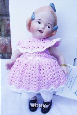 Antique Gerbruder Huebach 8 Reproduction Dans Jeannie DI Mauro Porcelain Doll Nouveau