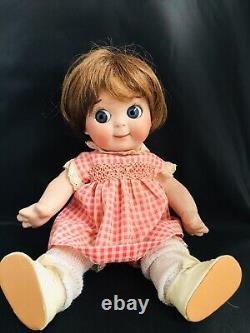 Antique Jdk 221 Reproduction Ges Gesch Googly Doll Porcelaine Jointed 11 Pouces