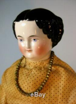 Antique Kestner Allemand 1860 Chine Head Porcelaine & Cloth Doll 18 Doux