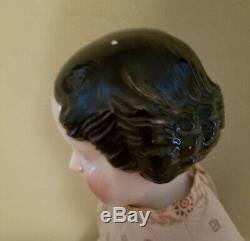 Antique Porcelaine Chine Head Doll (vintage 18 Siècle) Rare 27 Pouces