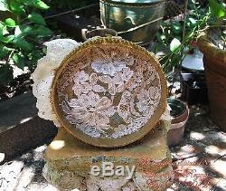 Antique Vintage Allemagne Demi Poupée Porcelaine Pincushion Treasure Box Arms Loin