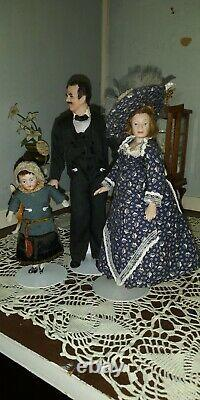 Antique Vintage Bisque Poupées En Porcelaine Et Miniatures Pour Dollhouse Tous Inclus