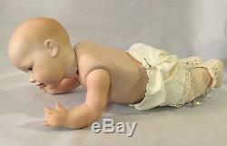 Antique / Vintage J. D. K Mcnees Baby Doll En Satin Robe Allemagne 14 Christening