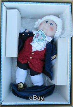 Applaudissements E. Poupée En Forme De Pépin De Chou George Washington En Porcelaine Vintage De 16 Po
