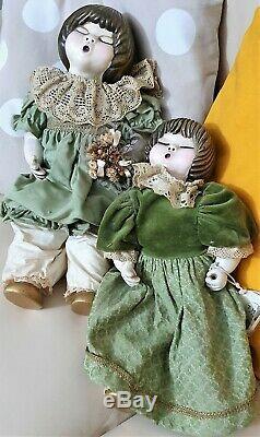 Bambole Thun Vintage Sophie & Pupilla. Serie Lene Puppen Sophie Et Pupilla