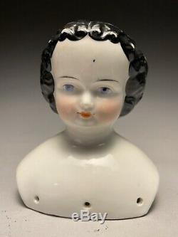 Belle 19c Antique. German Porcelain Blue Eyes Doll Head