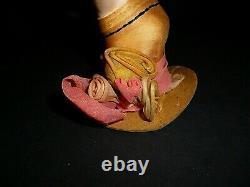 Belle Allemande Des Années 1920 Porcelaine Art Déco Flapper Half Doll Arms Away