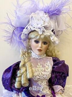 Belle Époque Victorienne En Porcelaine Ed Doll-limited. Poupées De Collection En Porcelaine-nouvelle