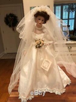 Belle Poupée De Mariage Vintage Hamilton Collection Rarecamilleporcelain Bride