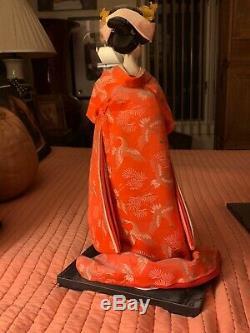 Belle Poupée Geisha - Ventilateurs Traditionnels-porcelaine, Authentique, Exquis, Vintage