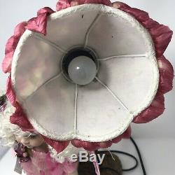 Belle Vintage Rare Duck House Heirloom Porcelaine Poupée Fée Lampe Veilleuse