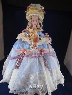 Boite D'origine De Coa Originale De Franklin Mint Marie Antoinette Vintage Bisque Porcelaine 18