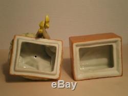 Boite En Porcelaine Art Deco Fasold Figurine Trinquet Boite Demi Poupee Demoiselle