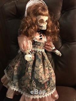 Bonnet De Style Victorien Skull Dolly Vintage Poupée Retravaillée Gothique