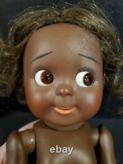 Boule De Reproduction Antique Afro-américaine Jointed Bisque Porcelaine Googly Doll