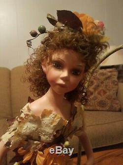 Canard Vintage House Heirloom Porcelain Doll Fée Lampe Fleur Rare