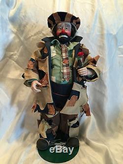 Collectible 100 Ans Coca-cola Emmett Kelly Au Marché Clown Doll